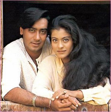 With husband Ajay Devgan