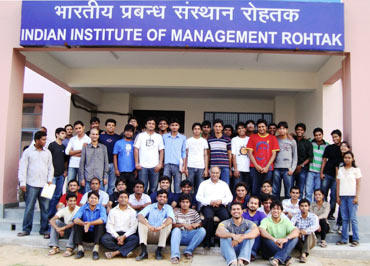 The first batch at IIM Rohtak