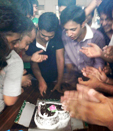 A birthday celebration at IIM Rohtak