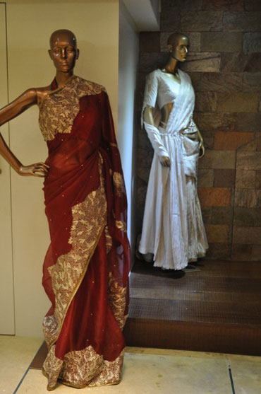 Vaishali's designs in her flagship store in Juhu, an upscale Mumbai suburb
