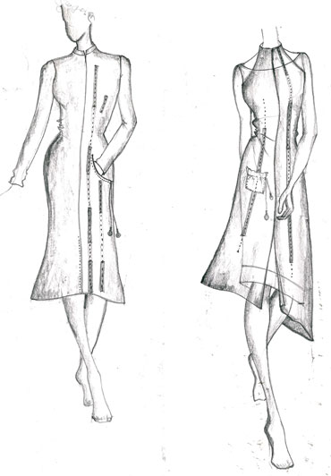 Vaishali's design sketches