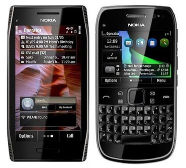 Nokia E7 and E6 smartphones