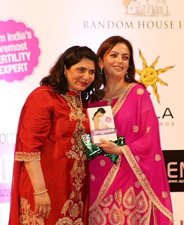 Dr Firuza Parikh with Mumbai Indians' Nita Ambani