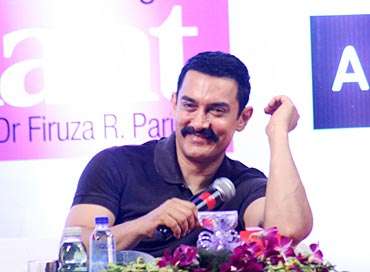 Bollywood star Aamir Khan at the book launch