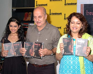 From left: Avika Gaur, Anupam Kher and Gajra Kottary