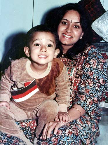 Gajra Kottary with her son