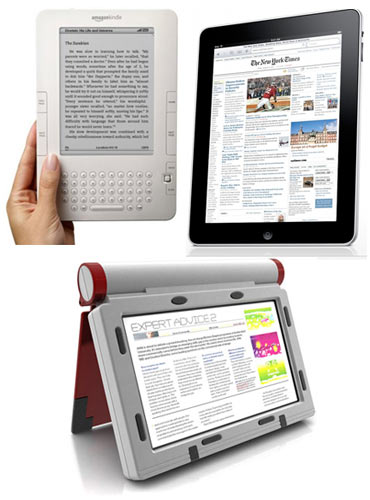 A collage of e-books
