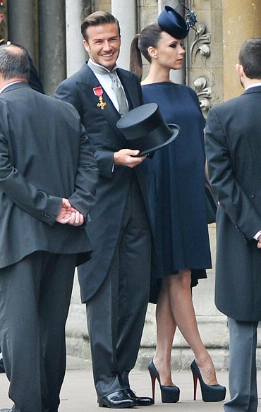 David Beckham with wife Victoria