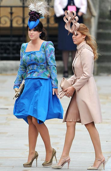 Princess Eugenie of York (left) and Princess Beatrice of York