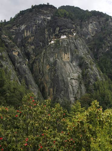 The Taktsang Buddhist monastery, known as Tiger's Nest, in Paro.