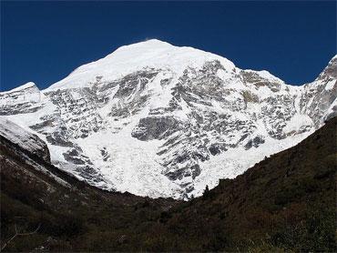 Mt Jomolhari from Bhutan taken from base camp at Jangothang.
