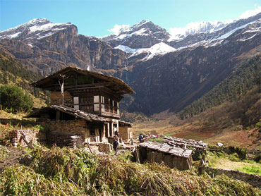 A Bhutanese farmhouse in Yaksa, Soe Gewog, Bhutan