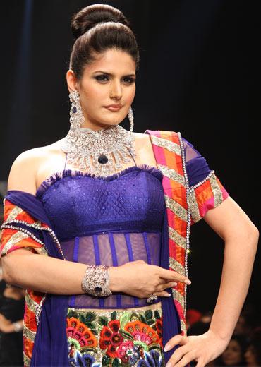 Zareen Khan for Dwarkadas Chandumal Diamonds
