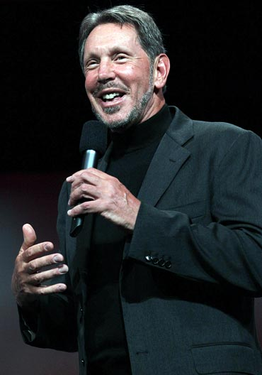 Oracle Corp's co-founder and CEO Larry Ellison