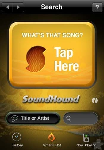 Sound Hound for Android smartphones