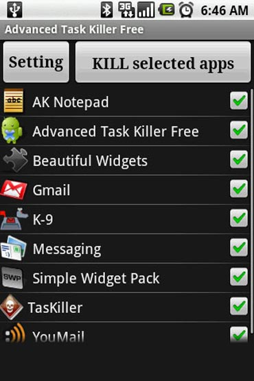 Advanced Task Killer Free for Android smartphones