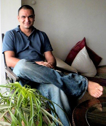 Apurva Kothari at his Mumbai home-office