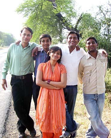 (L-R) Gajanan, Shrikant, Shubhangi, Sachin and Nishant Bochare