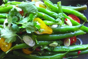 Fibre in green beans