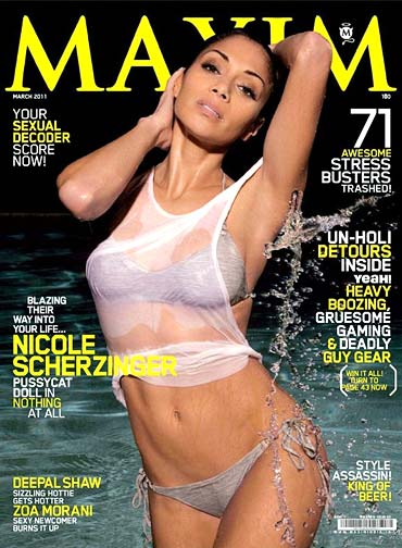 Nicole Scherzinger on Maxim cover