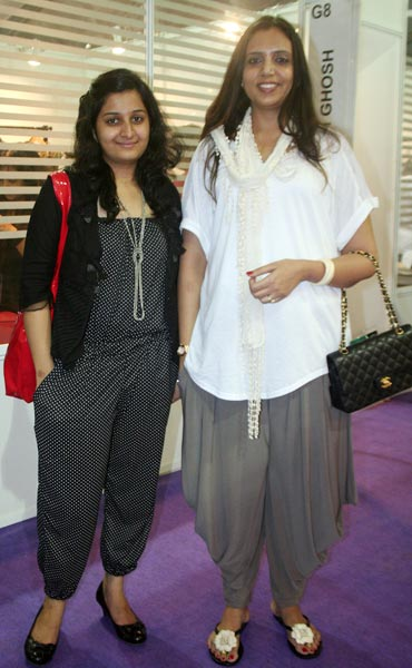Damayanti Raje Bhonsale, owner of Araliya (right)