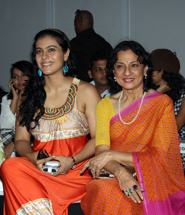 Kajol with mother Tanuja