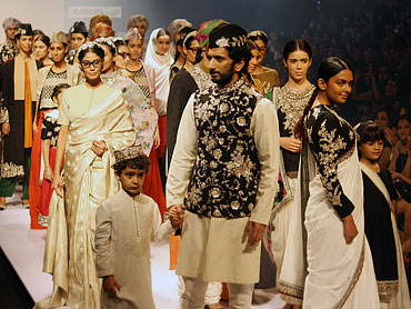 Sabyasachi creations at the closing of his LFW showing