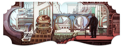 Google Doodle for Jorge Luis Borges