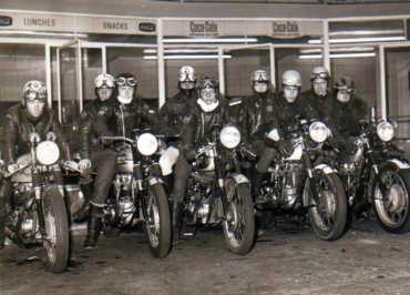 Rockers on Cafe Racers at Cafe, UK