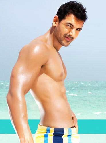 John Abraham showed off his washboard abs in Dostana