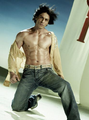 The man who started the trend -- Shah Rukh Khan -- does not have those six-pack abs anymore