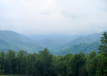 A view of the Smokies from the cabin