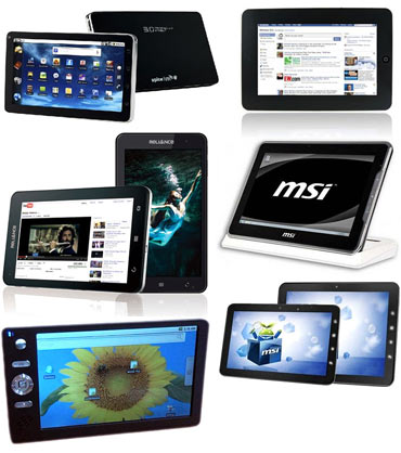 A collage of tablet PCs under Rs 20,000