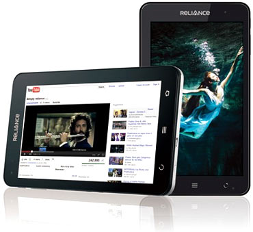 Reliance tablet.