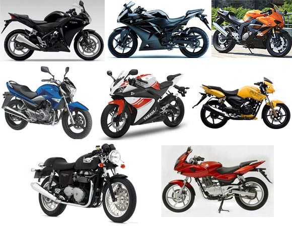A collage of superbikes that would be available in India in 2012