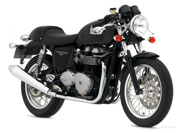 This picture of a Triumph motorcycle is only for illustration purpose
