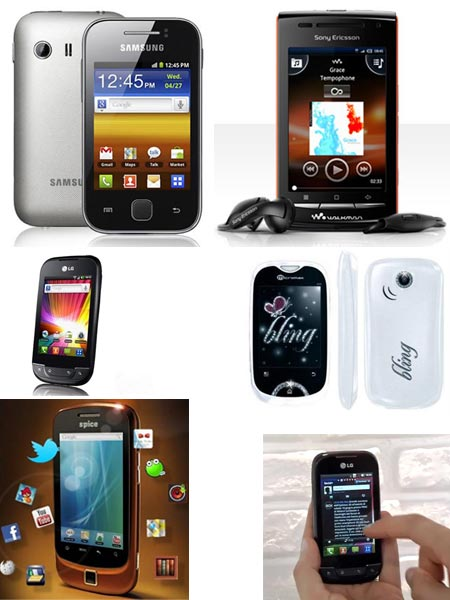A collage of top 5 smartphones under Rs 10,000