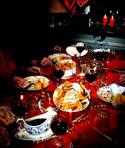 Two dishes each of starters, main course, salads etc will you with no place on the table. So don't go overboard