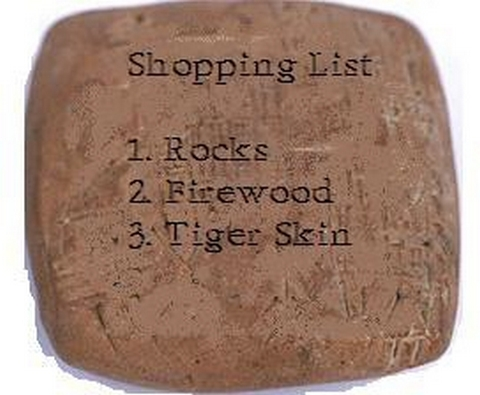 Draw up your shopping list.