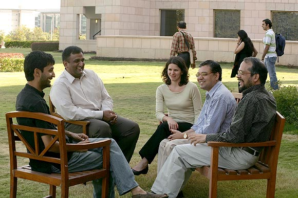 A group of faculty at ISB