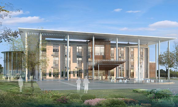 Artist's  rendition of the upcoming Mohali campus