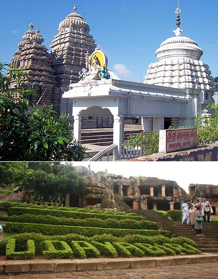 Top: Uttareswar Temple, Cuttack; Below: Udayagiri, Bhubaneshwar