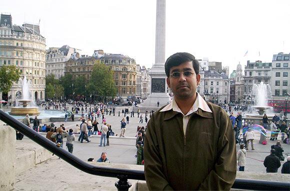 Yateen Kumar Suman during his stint in UBS, London