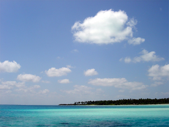 Sea off Bangaram island, Lakshadweep