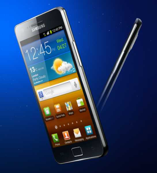 Samsung Galaxy S II; This picture is only for representational purpose