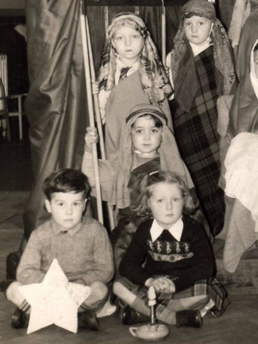 Child Ken Follett  (holding the star)