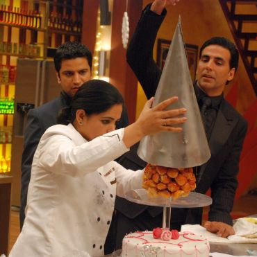 Hard at work: Pankaj goes to work on MasterChef