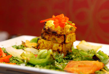A lot of travellers seem to prefer Indian cuisine. Seen here is Achari Paneer, a North Indian delicacy
