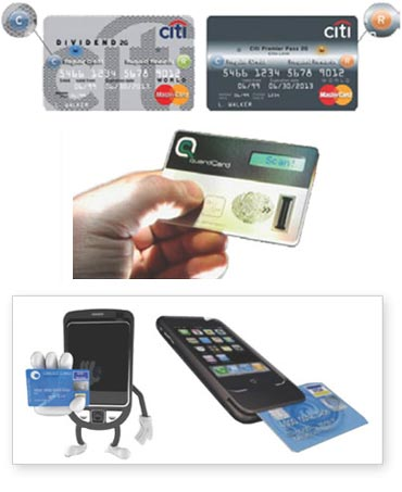Futuristic credit cards straight out of the X Files!