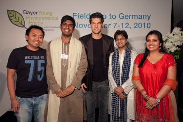 Vaibhav Tidke with other participants at the Bayer Young Environmental Leader award function